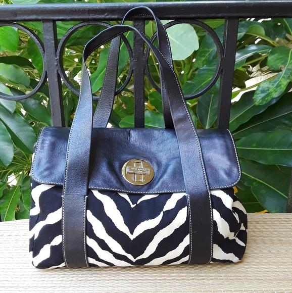 kate spade Handbags - KATE SPADE Animal Print Canvas Leather Handbag